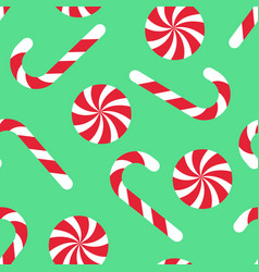 Candy cane seamless christmas pattern vector