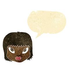 Cartoon annoyed face with speech bubble vector