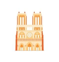 Cathedral Notre-Dame de Paris in France - 4 vector