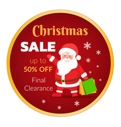 christmas sale up to 50 percent off clearance vector image