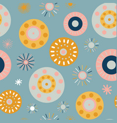 Collage style circles seamless background vector