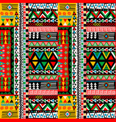 colored patchwork design with african ethnic vector image