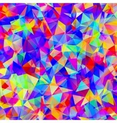 Colorful pattern with chaotic triangles vector image