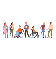 disabled handicap people set vector image