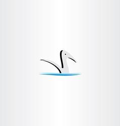 duck in water logo sign element vector image