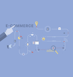 e-commerce process background vector image