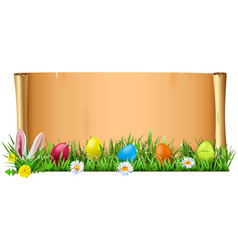 easter scroll vector image