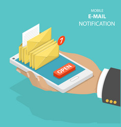 Email notification flat isometric concept vector