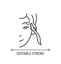 Eyebrow razor linear icon vector