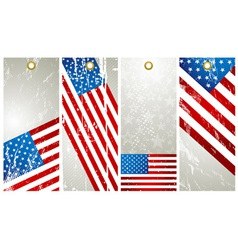 four labels with elements of usa banner vector image