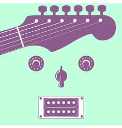 Funky guitar face vector image