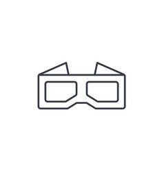 glasses for movie thin line icon linear vector image