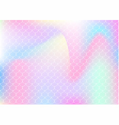 Gradient mermaid background with holographic vector