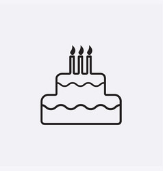 gray cake icon isolated on background modern flat vector image