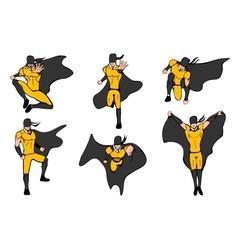 Hand drawn Superhero models vector image