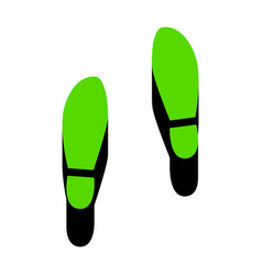 imprint soles shoes sign green 3d icon vector image