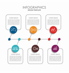 infographic template can be used for workflow vector image