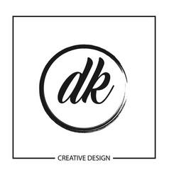 Initial letter dk logo template design vector