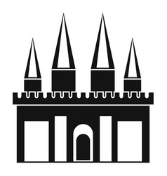 Kingdom palace icon simple style vector