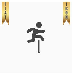 Man figure jumping over obstacles vector