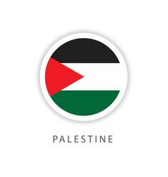 Palestine circle flag template design vector