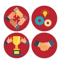 Partnership and cooperation icons vector