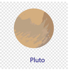 Pluto planet icon flat style vector