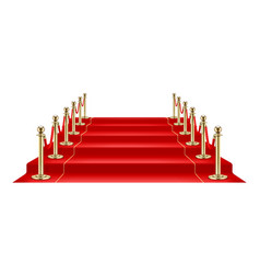 Red carpet and golden barrier vector