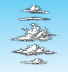 retro clouds vector image