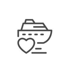 romantic cruise line icon vector image