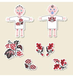 set of design elements and scrapbook objects vector image