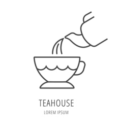 Simple Logo Template Tea vector image