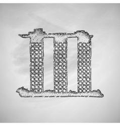 singapore building icon vector image