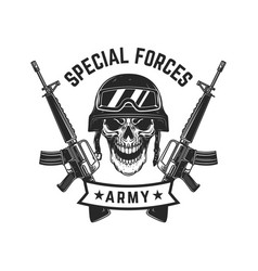 Special forces crossed assault rifles vector