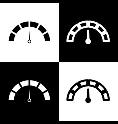 speedometer sign black and vector image