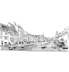 Strasbourg france hand drawn sketch vector