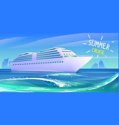 summer luxury vacation on cruise ship vector image