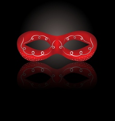 theater red mask with reflection on black vector image