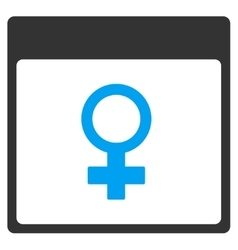 Venus female symbol calendar page toolbar vector