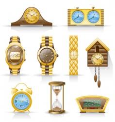 Watches icon set vector