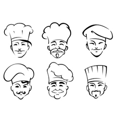 Cartoon chefs in toques vector image