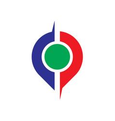 abstract pin business logo vector image