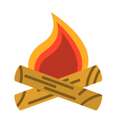 campfire bonfire icon tourism equipment vector image