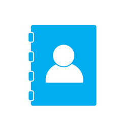 Contacts book on white background contacts book vector