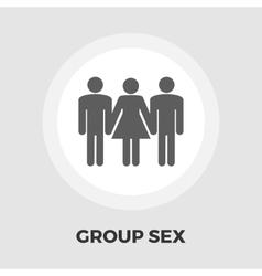 Group sex flat icon vector image
