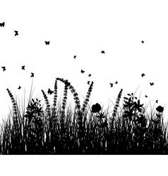 Meadow background vector image vector image