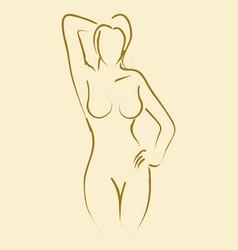 sexy pose vector image vector image