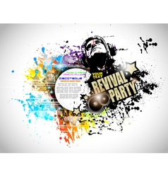 Abstract Disco Club Flyer vector image vector image