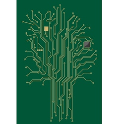 Computer motherboard tree vector image