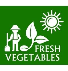 green plant symbol vector image vector image